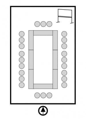 研修室(ロの字)